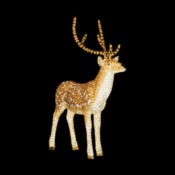 led outdoor christmas decorations led acrylic reindeer motif lights - Led Outdoor Christmas Decorations