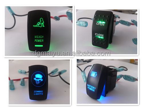 12v Carmarine Boat Rocker Switch With Led Buy Colorfull 1224v