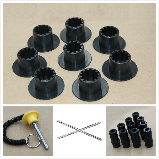 Plastic gym accessories for weight stack fitness equipment guider