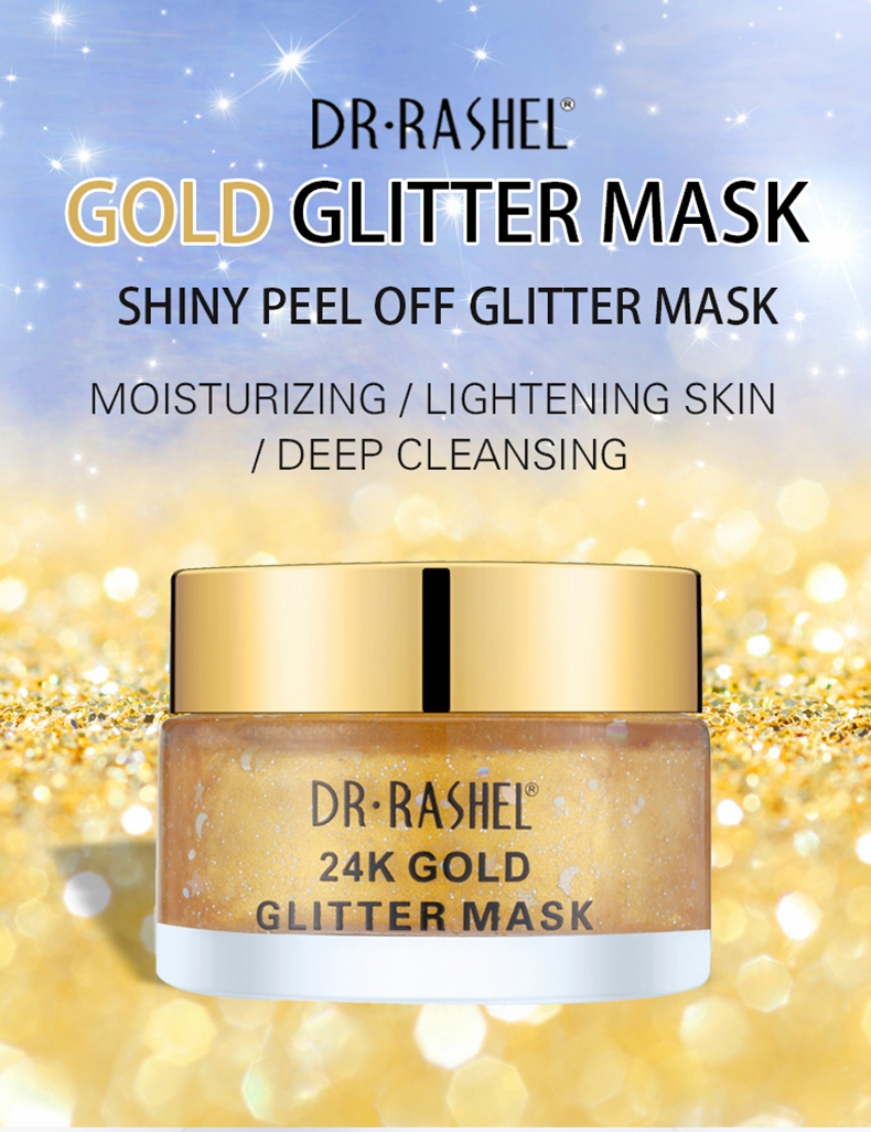Anti Aging Fine Lines Smoothing 24 K Gold Star Mask Peel Off Face Glitter Mask