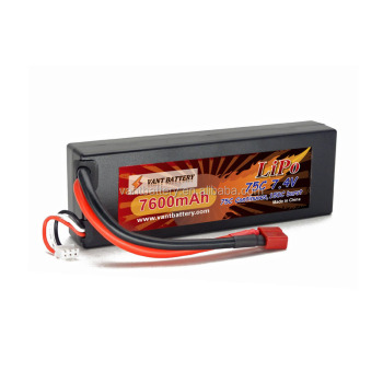 7.4V 7600mAh 75C 2S HardCase LiPo Battery rc car battery