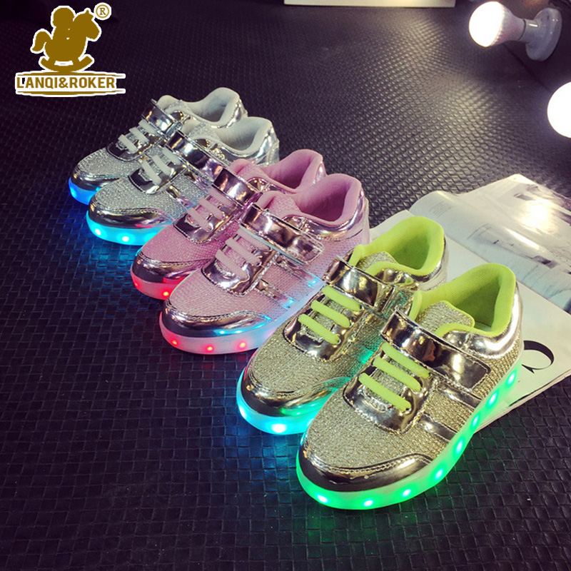 Spring Autumn Led Light Luminous Baby Boys Girls Kids Shoes Sneakers Summer LED Children Shoes Travel Boys Girls Mesh Shoes