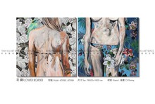 Original handmade nature painting wall hanging decor oil painting nude art