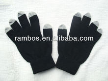 Soft 5 finger tips full screen touch gloves igloves for Samsung galaxy note for iPad mini
