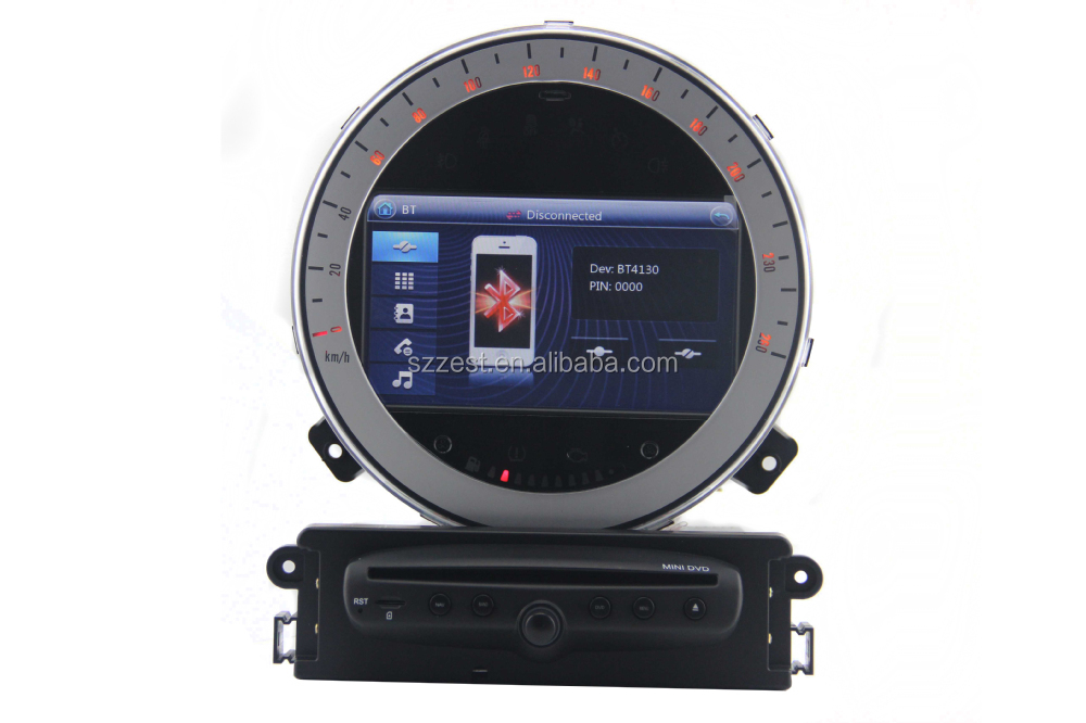 zestech touch screen dvd mini cooper r56 support gps radio. Black Bedroom Furniture Sets. Home Design Ideas