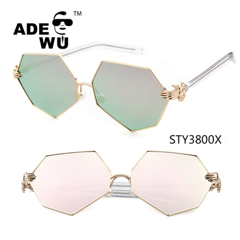ADE WU 2017 italy design ce sunglasses newest style Fashion new polygon with the palm of glasses Pearl bazoo holds