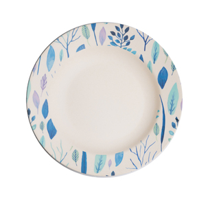 Bamboo melamine Food grade Eco-friendly dinner decorative plate