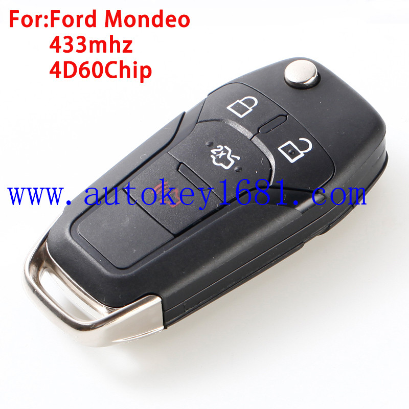 Car Key For Ford Fusion Remote Control 4Button 315mhz 433MHZ For Ford
