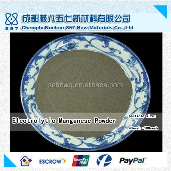 High quality 99.9% electrolytic manganese metal powder with reasonable price