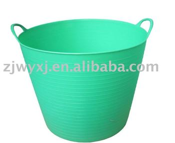 Flexible Plastic Tubsplastic Storage Buckets With Handles14l Pe