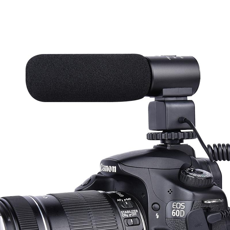 Canon Dslr Kamera için Yelangu Alüminyum Alaşımlı Video Dslr Kamera Mikrofon