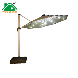 Led double canopy outdoor large solar charge power Umbrella light , Patio Parasol, Outdoor Patio Umbrella Sale