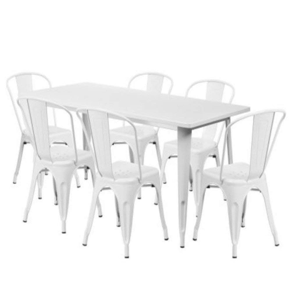 Get Quotations Gt Metal Outdoor Furniture Sectional Patio Bistro Set Of Seven White Small Porch