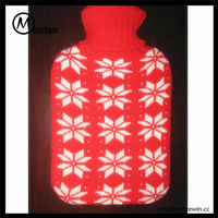 Morewin brand wholesale promotional custom knitting pattern crochet hot water bottle cover