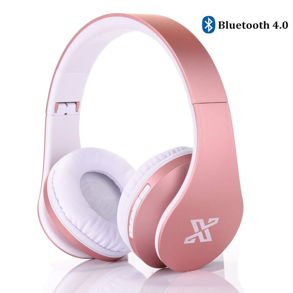 Wireless Headphones Over Ear, REDGO Stereo Wireless Wired Headphones, Foldable Noise Cancelling Headphones, Soft Memory-Protein Earmuffs with Microphone Mic Deep Bass Headphone Headset for PC Cell Ph