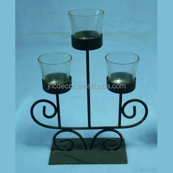 Votive Glass Candle Holder With Metal Stand, Votive Glass Candle ...