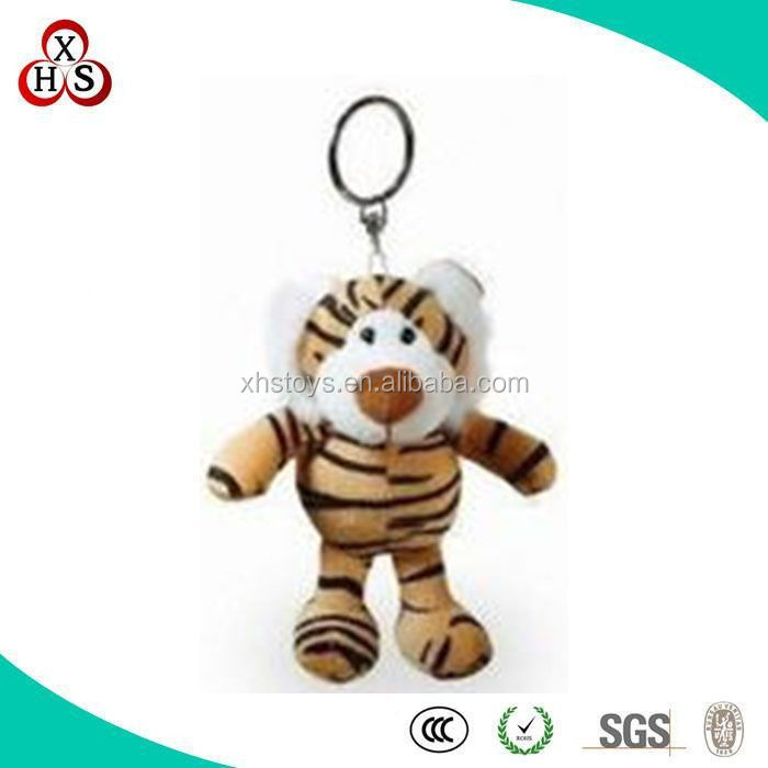 Chinese factory direct sale High Quality custom plush tiger keychain