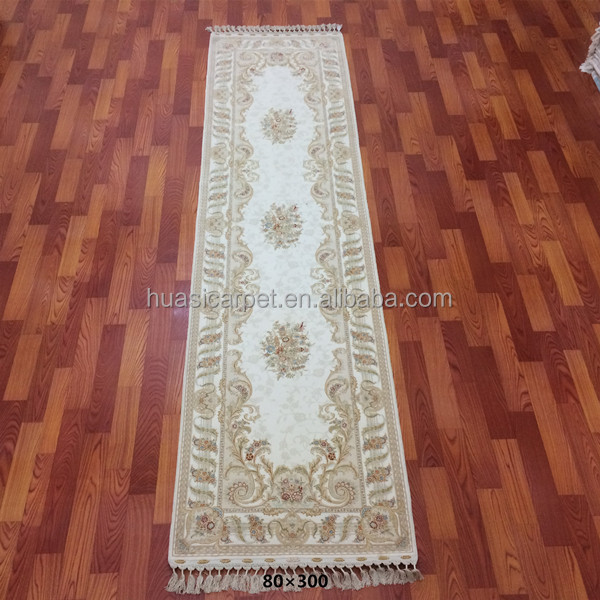 white 80 x 300cm wool carpet silk persian hand knotted wool silk mixed moroccan rugs