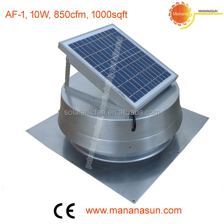 10w Aluminum solar extractor with square base