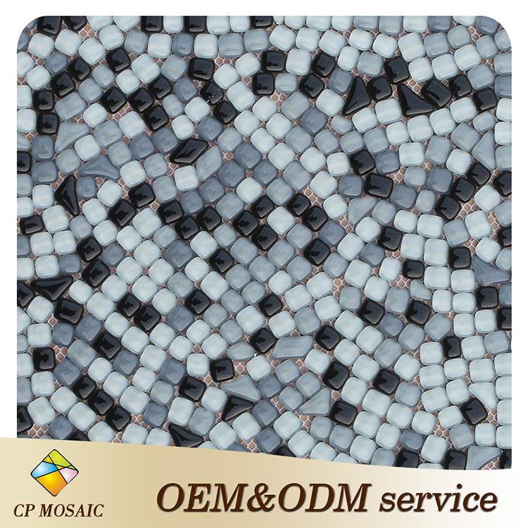 Foshan Manufacturers Selling Bali Style Irregular Glass Mosaic ...