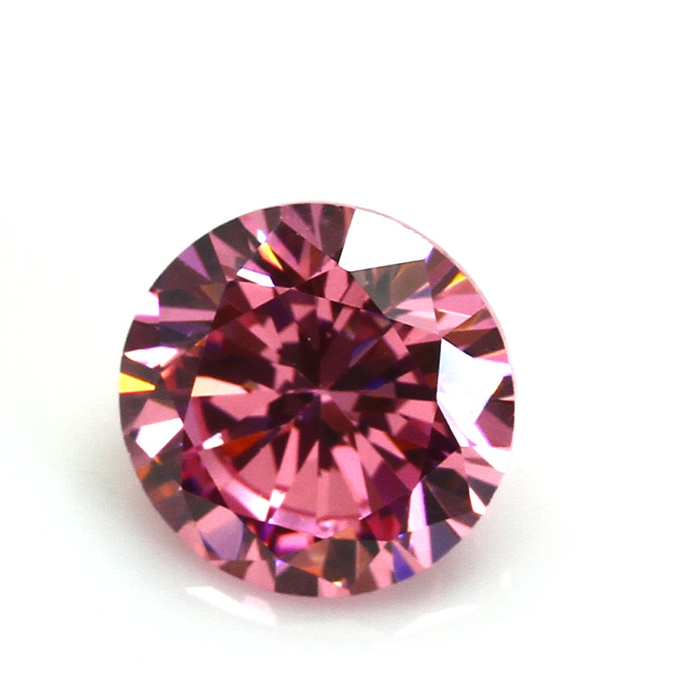 2.25mm Diamond Cut Synthetic Pink Stones Cubic <strong>Zirconia</strong> price