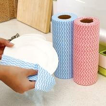 Spunlace Nonwoven Fabrics Oil Absorbent Kitchen Cleaning Wipes Dish
