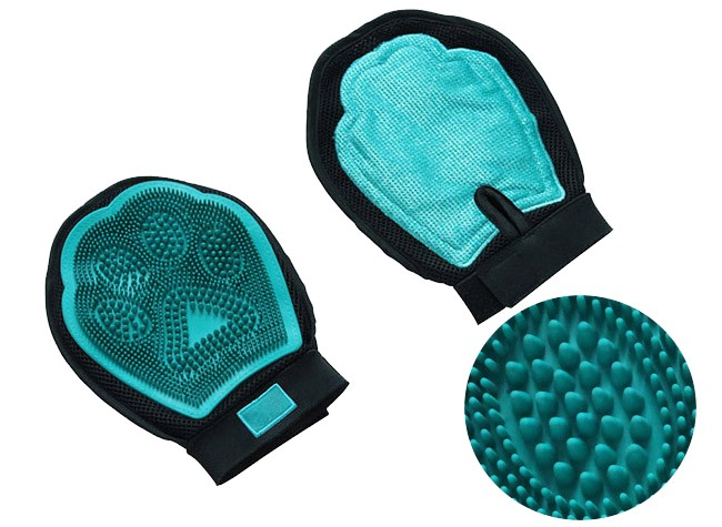 Pet grooming glove brush with OEM available, pet bath glove