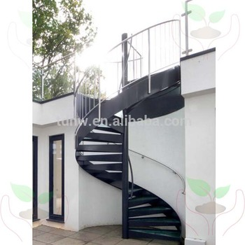 Wonderful External Used Metal Spiral Staircase With Glass Tread And Stainless  Railing/hot Galvanized Spiral Stair