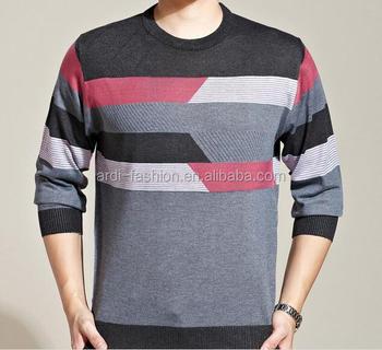 heiß Stricken Herren Pullover Pullover Stricken Kontrast