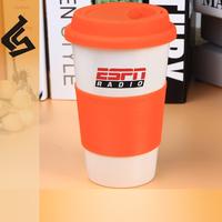 covered insulated ceramic mug double walle travel mug silicone lid coffee drinkware