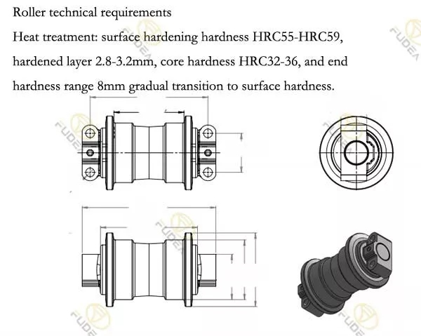 11 Years Manufacturer Of Durable IHI30 Track Roller for Excavator