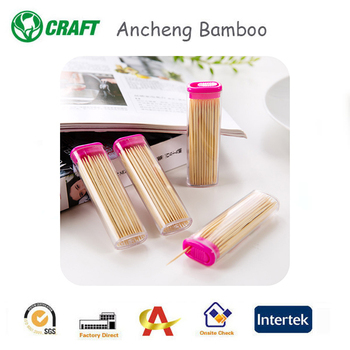 Pocket bamboo wooden skewers disposable bamboo toothpicks