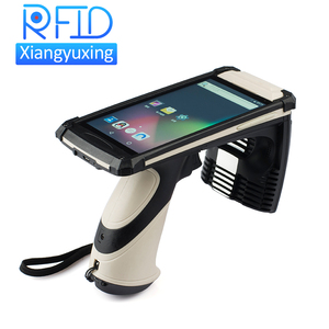 touch screen mobile rfid passive tag reader with barcode / QR scanner / 4g / camera optional function