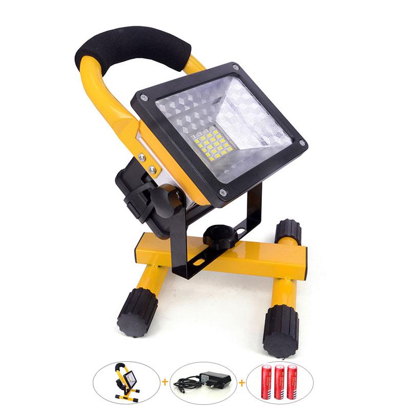 projecteur led 30 w avec batterie rechargeable 2400lm sans fil portable lampe jaune led. Black Bedroom Furniture Sets. Home Design Ideas