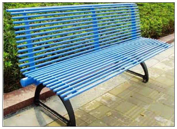 OUTDOOR PARK STAINLESS STEEL BENCH LT-2121R