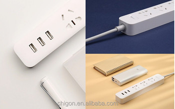 Original Xiaomi Mi Smart Power Strip Plug Adapter Outlet Socket 3 USB