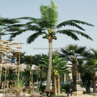 Large outdoor artificial fiberglass coconut trees for landscaping