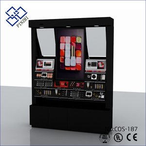 Latest makeup display stand cosmetic display stand for cosmetics shopping mall design made in China