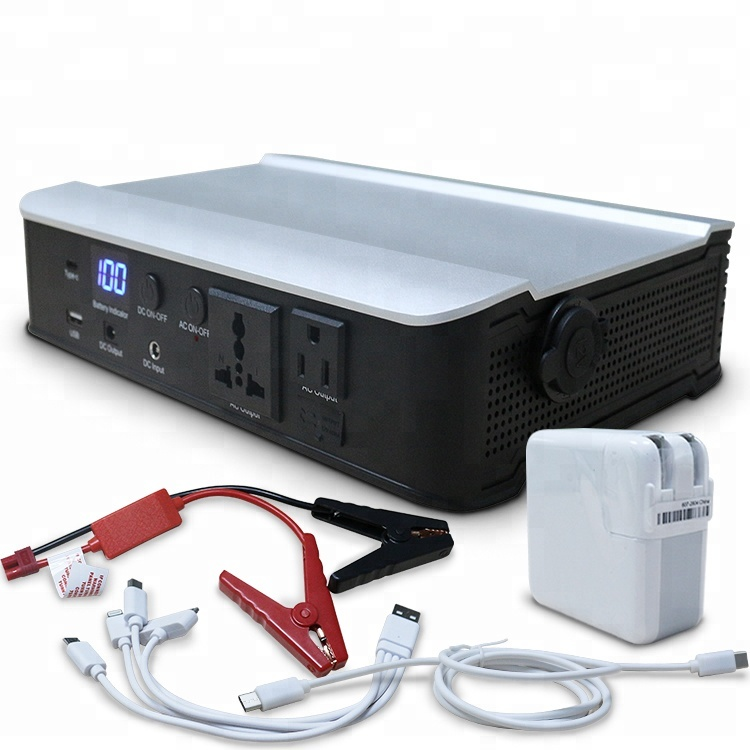 Solar Powered Generator & <strong>AC</strong> 110V-220V Output Mobile Power USB Type-C Power Bank for Laptops Mobile Phones Charging
