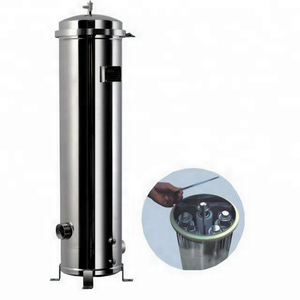 "factory price Water Treatment System 10"" --40"" High Temperature stainless steel cartridge filter housing"