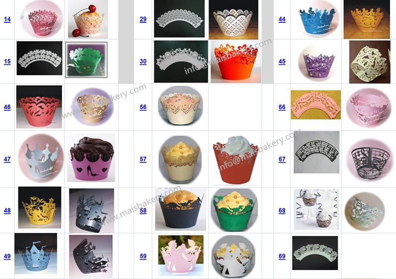 wedding party decoration laser cut cupcake wrappers
