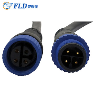 M15 High quality 2 pin 3pin 4pin 5pin LED waterproof connector and socket set price