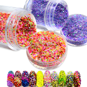 PET POLYESTER FACTORY NEON GLITTER POWDER FOR NAIL ART CRAFT
