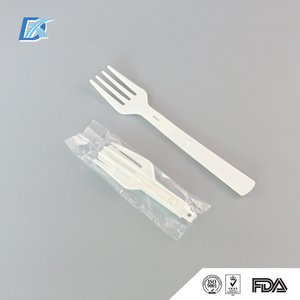 Factory Direct White Plastic Foldable Fork With Long Handle