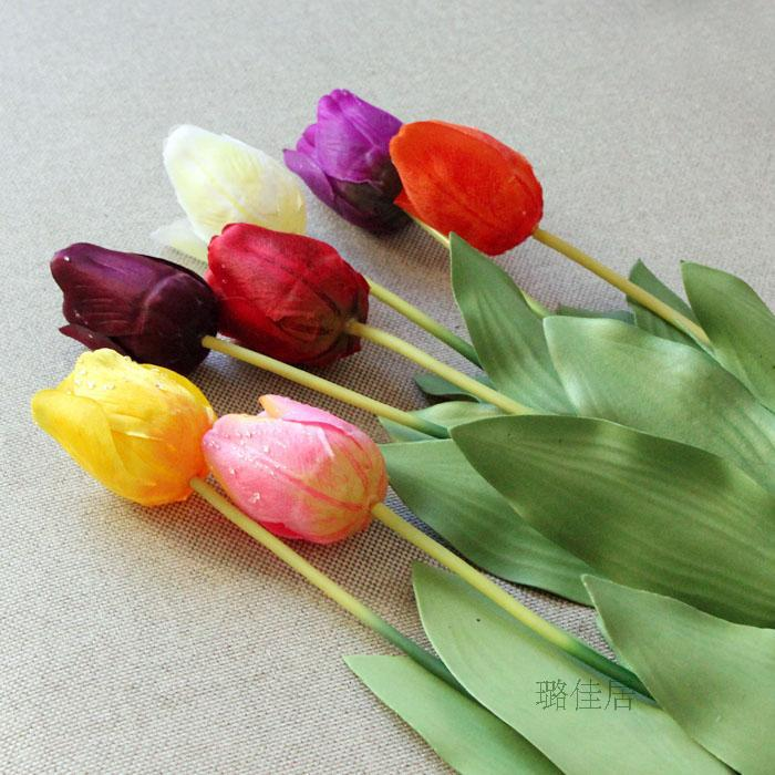 Artificial Tulips Spring Artificial Flowers Home Decoration Plastic