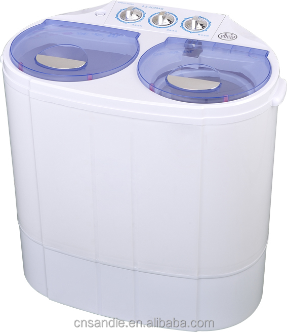 2.0-5.0kg twin tub semi automatic mini washing machine with spin drying/baby washing machine/Aluminum Copper motor