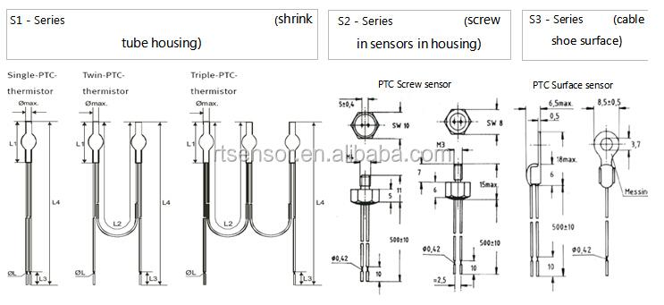 Motor Protection Triple Sensors Ptc Thermistors As Limit