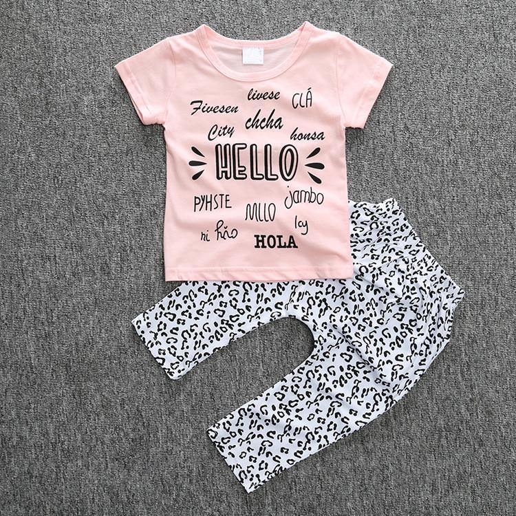 df67d12e5e245 الملابس في الطفل الرضيع بنات طقم ملابس للطفل ملابس + سروال-مجموعات ...