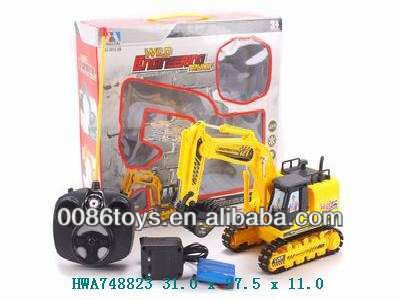 children 6W rc construction toy trucks