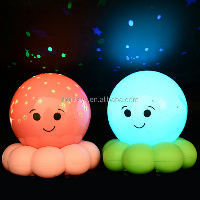 Cute Octopus Led Baby Room Star Night Light